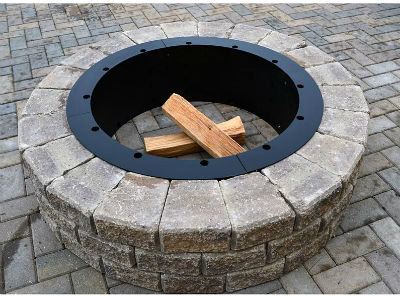 American made 36 round fire pit insert fire pits - Benefits Fire Pit Inserts For Stone Garden Landscape