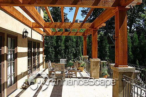 landscaping pergolas outdoorgarden hardscape gardenlandscape enhancescape landscapeidea gardenarbors