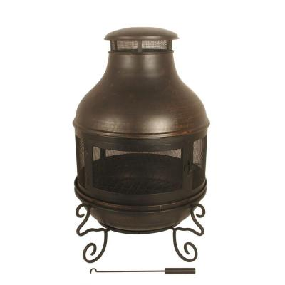 Black metal chiminea discontinued ds 16676 the home depot