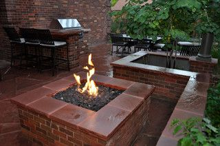 Red Brick Fire Pit