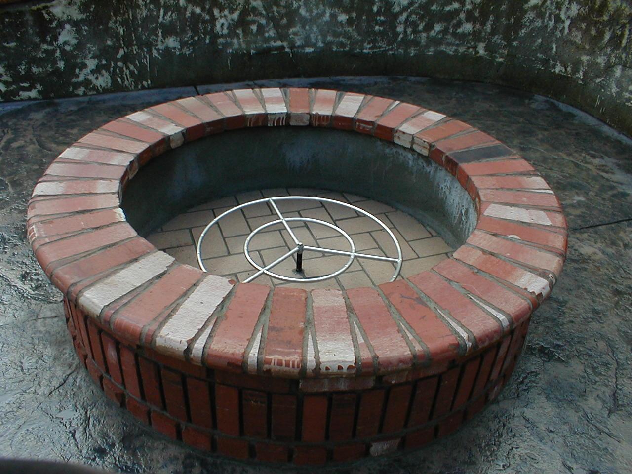 Fire Pit Design Plans Part - 20: Brick Fire Pit Designs Is A Part Of Outdoor Fire Pit Designs Picture .