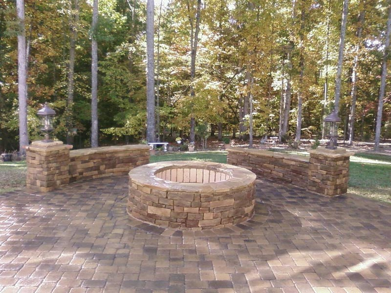 Brick patio and fire pit designs