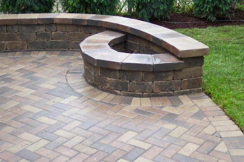 Brick patio fire pit designs