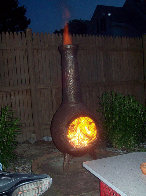 fire flames firepit chiminea