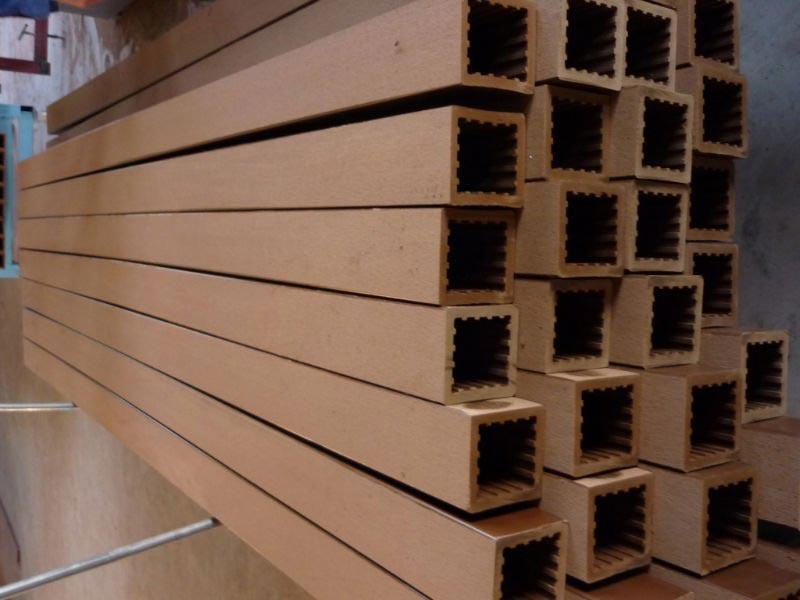 Composite lumber pergola