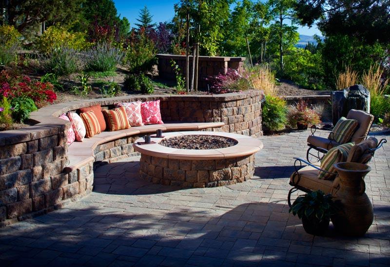 Fire pit patio area designs