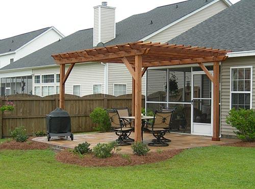 free standing pergola construction : SayLeng - Benefits Free Standing Pergola Designs Garden Landscape