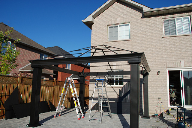 sun ontario canada hardtop backyard aluminum chocolate top steel hard royal gazebo 12 shelter woodbridge sunshelter rona steelandaluminum chocolatecolour royalsunshelter 38115029 ronahardtop