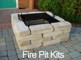 Astonishing brick fire pit kit garden landscape for How to build a fire pit with concrete blocks