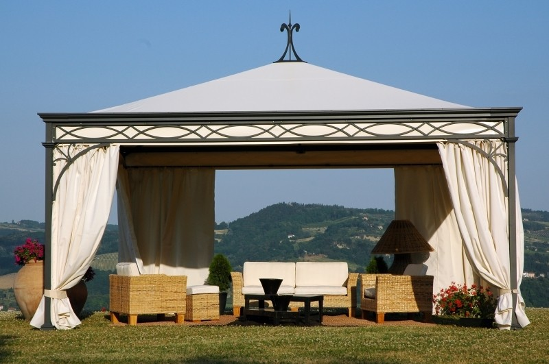 Malatesta wrought iron gazebo with canopy 462600486jpg