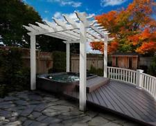New Portland Small Vinyl Pergola Outdoor Room Patio & Garden – 6′ x 6′ White