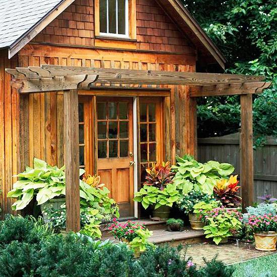small wood pergola