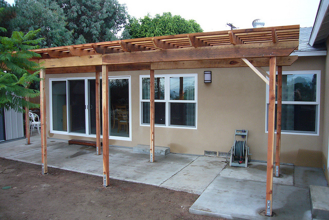 sandiego redwood pergola shadestructure patiocover freestanding