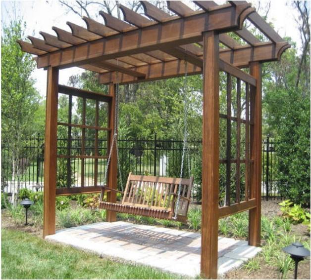 Pergola With Swing Design