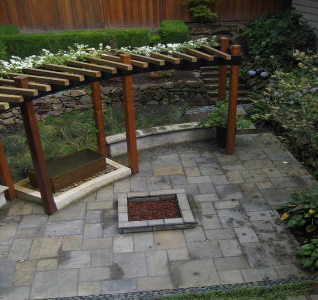 Cheap small pergola ideas garden landscape for Cheap patio design ideas