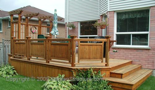 Incredible small wood pergola garden landscape for Small wood porch designs
