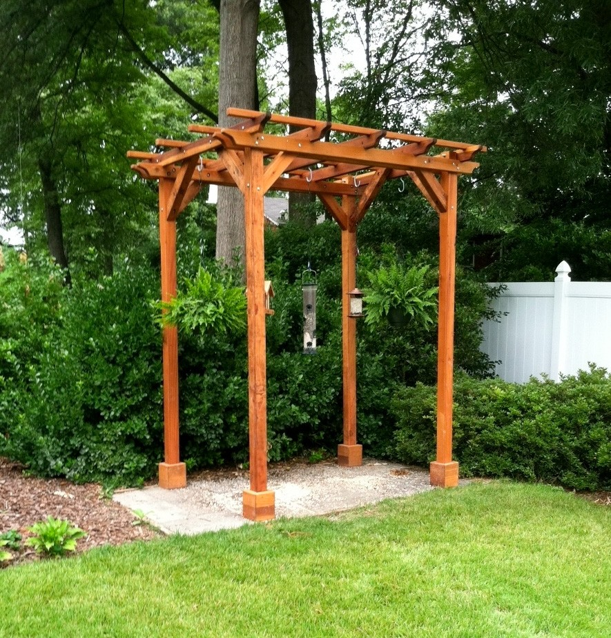 Incredible small wood pergola garden landscape for Garden gazebo designs plans