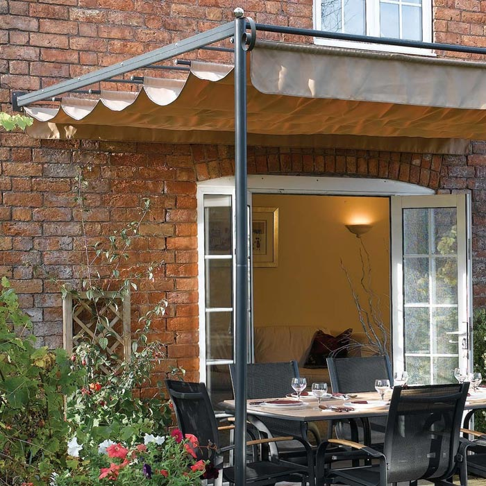 Wall mounted gazebo 3m