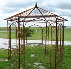 Wrought Iron Flower Arbor, Garden Gazebo Trellis – Metal Yard Structure
