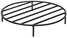 24 Inch Round Thick Steel Outdoor Fire Pit Wood Grate Camping Cast Iron Cooking