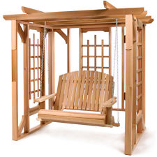 Cedar Pergola Swing Set Garden Yard Patio Area