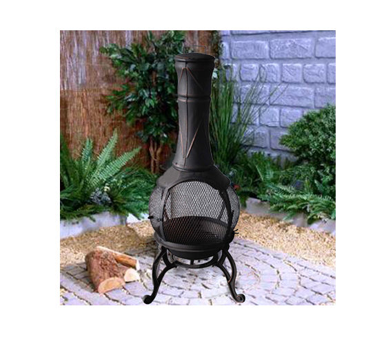 Good Chiminea Steel Patio Furniture Fire Pit Heat Firepit Outdoor Chimineas