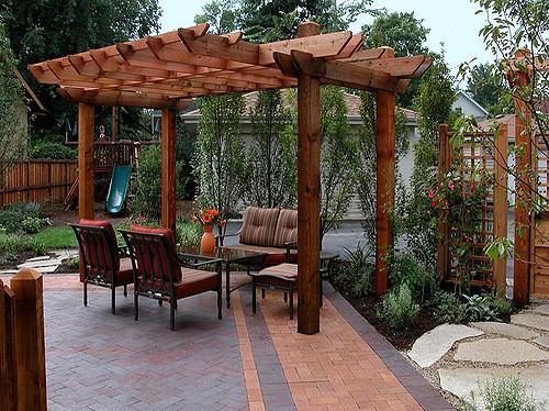 gardens structure trellis pergola hardscaping