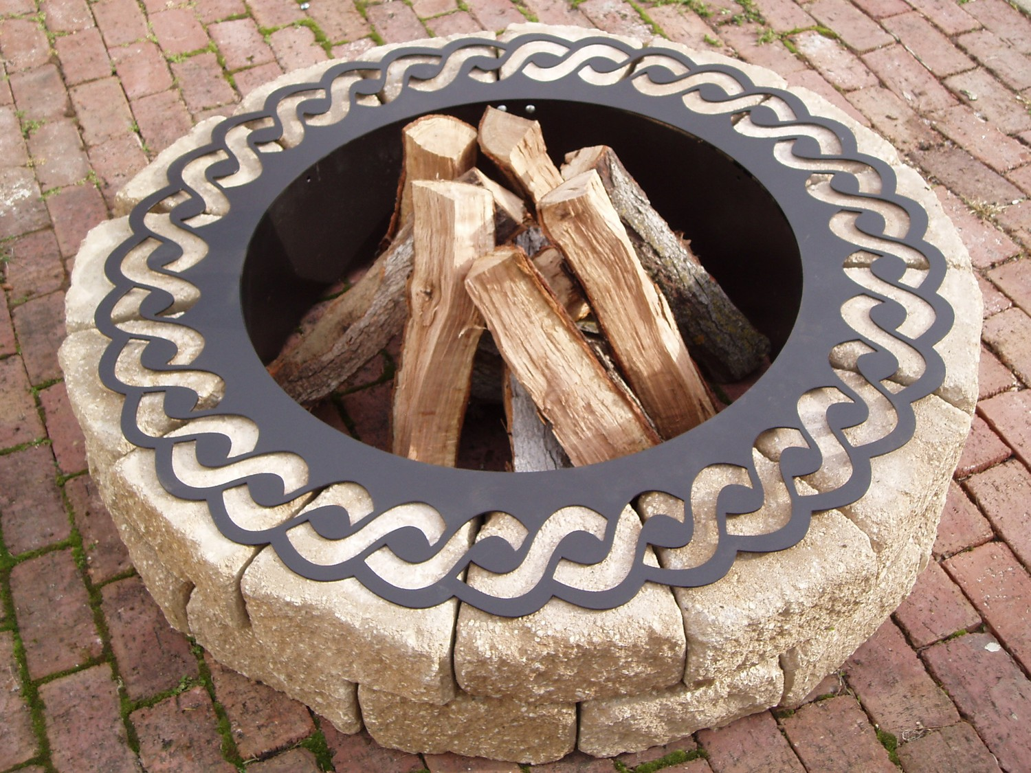 Garden Treasures Fire Pit Metal Ring Liner Garden Landscape