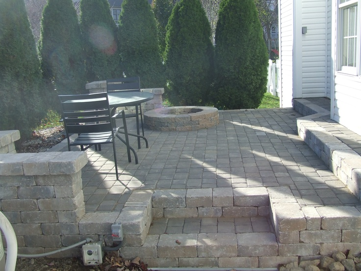 Pit on patio pavers bamboo landscapes pits pavers - 19x33 kitchen sink ...