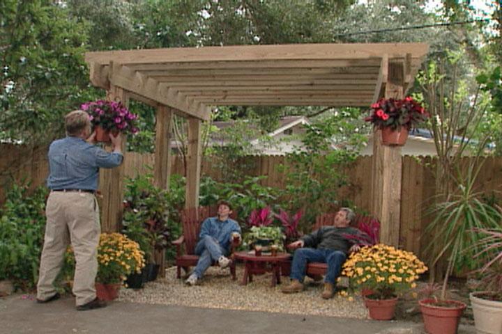 Free Standing Pergola • Ron Hazelton Online • DIY Ideas & Projects - Amazing Free Standing Pergola Ideas Garden Landscape