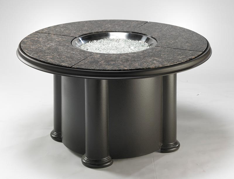 Granite fire pit coffee table