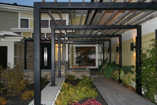 cheap modern metal pergola garden landscape. Black Bedroom Furniture Sets. Home Design Ideas
