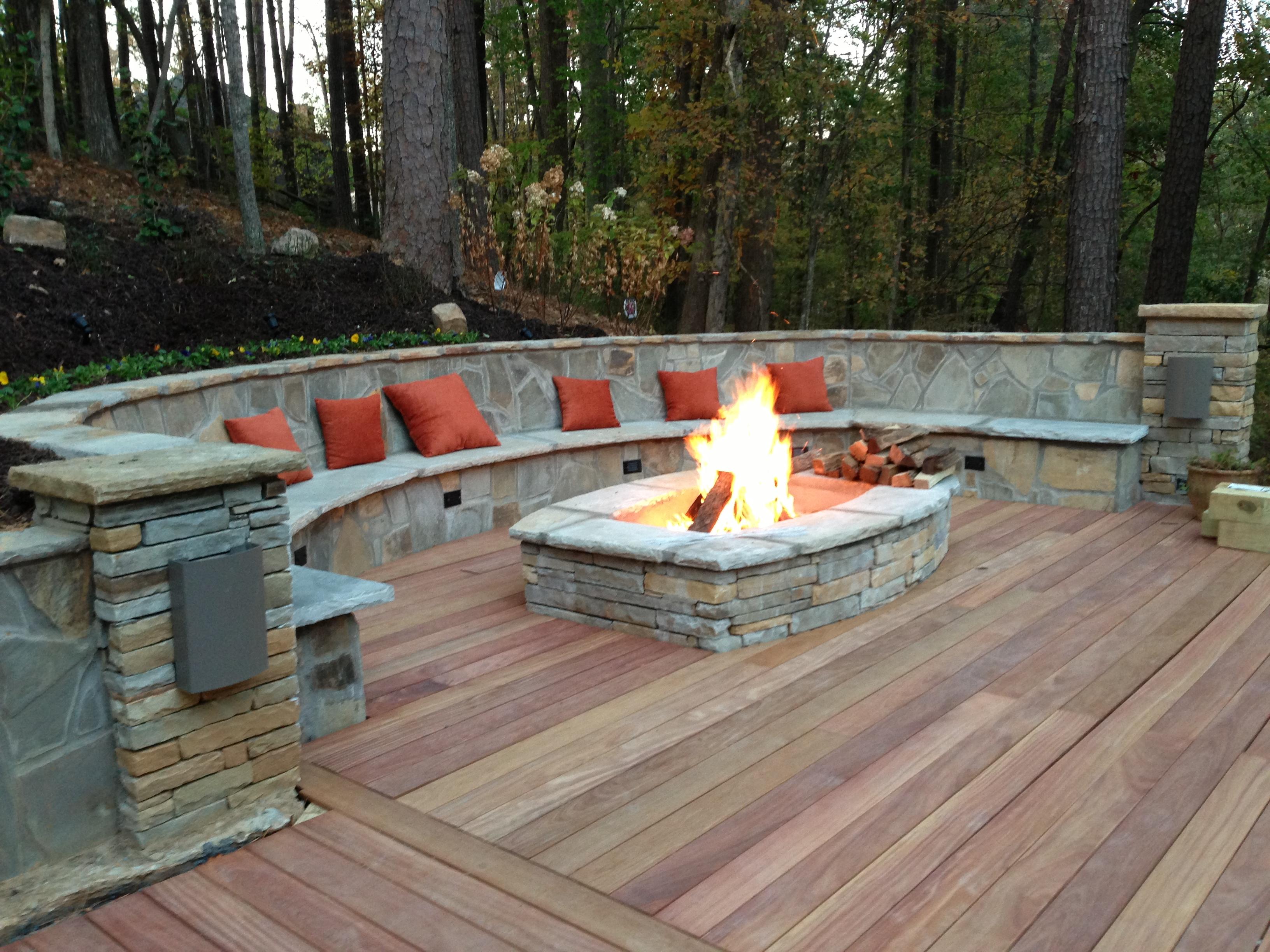 Garden treasures Paver Fire Pit Designs