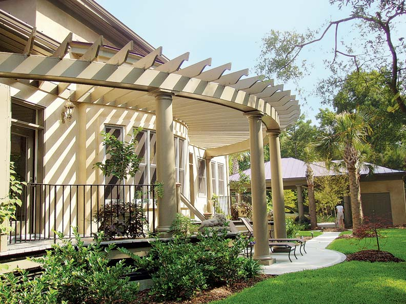 Benefits Pergola Attached To Front Of House Garden Landscape