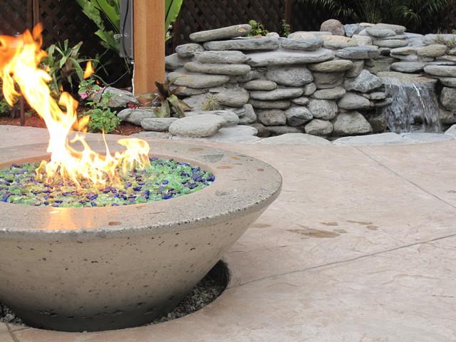 Concrete Gas Fire Pit