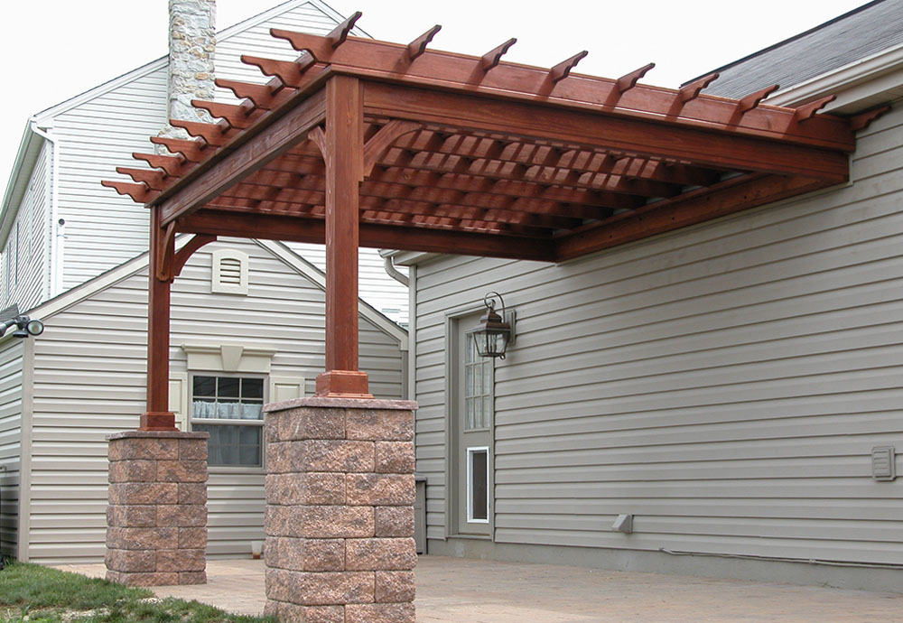 Favorite Wood Pergola Attached to House 1000 x 690 · 189 kB · jpeg - Incredible Wooden Pergola Attached To House Garden Landscape