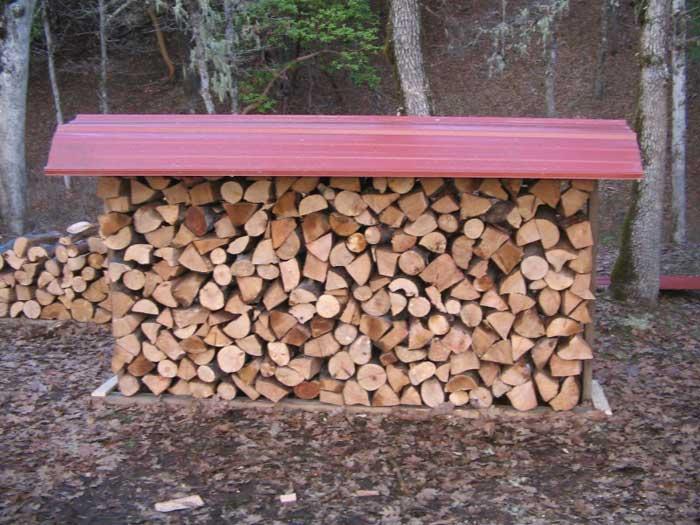 Firewood storage rack brackets