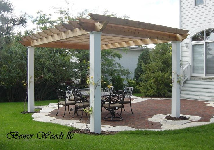 Free Standing Pergola On Concrete Patio