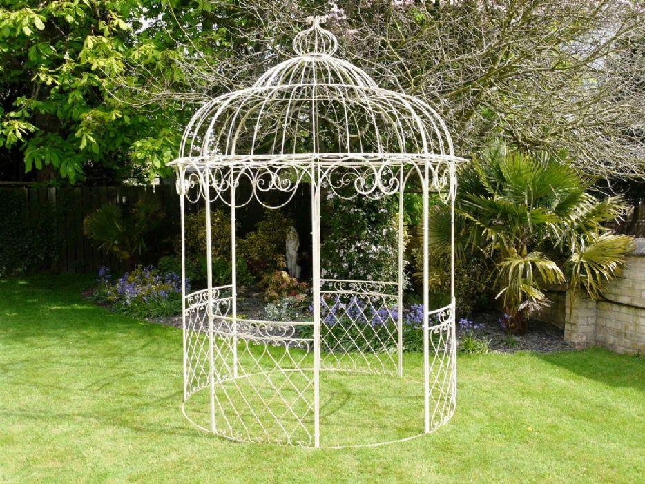 garden treasures wrought iron garden gazebo uk garden landscape. Black Bedroom Furniture Sets. Home Design Ideas