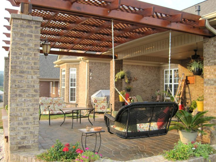 Garden treasures how to build a covered pergola attached for Design and build a home