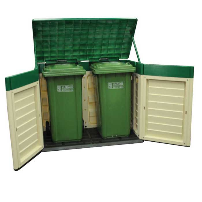 Plastic log storage bin