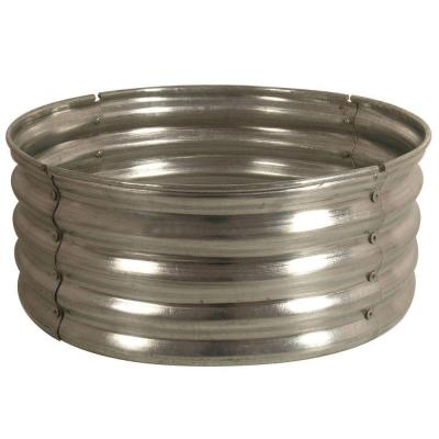 galvanized round fire pit ringds18727 the home depot