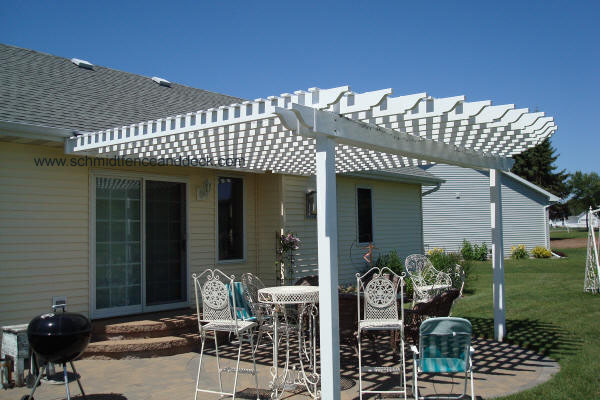 Attach Pergola To House Roof http://www.schmidtfenceanddeck.com . - Low Price Pergola Attached To House Roof Garden Landscape
