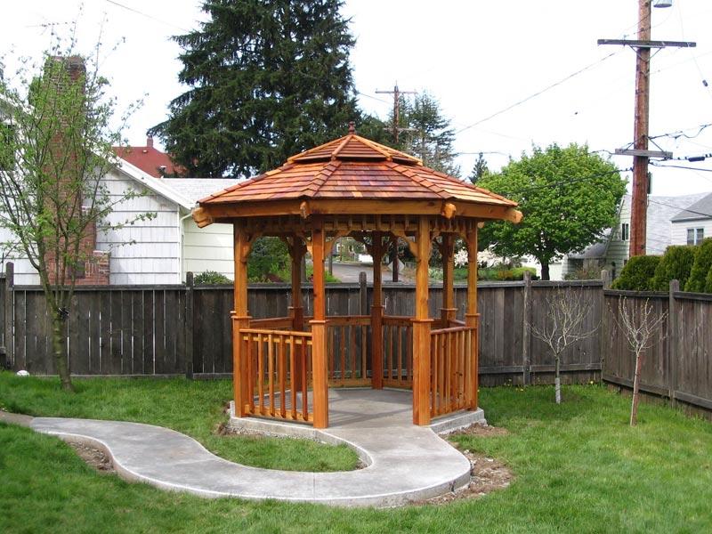 Improbable cheap gazebo with side panels garden landscape for Inexpensive gazebo ideas