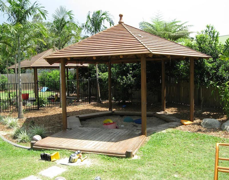 Improbable cheap gazebo with side panels garden landscape for Design your own gazebo