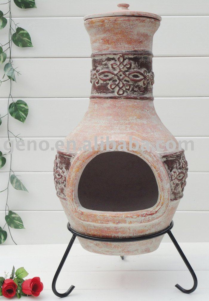 Fire Clay At Home : Low price terracotta chiminea fire pit garden landscape