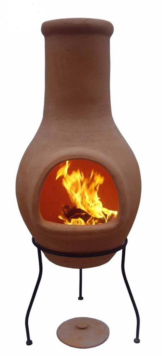 Low Price Terracotta Chiminea Fire Pit Garden Landscape