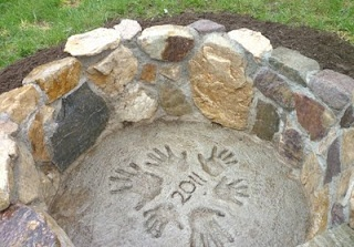 In Ground Stone Fire Pit