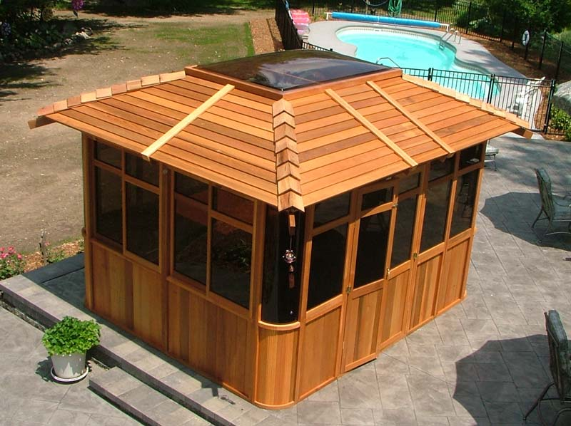 Benefits costco hot tub gazebo garden landscape for Hot tub shelters