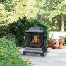 Outdoor Fire Pit Backyard Patio Fireplace Deck Wood Burning Heater Chiminea New